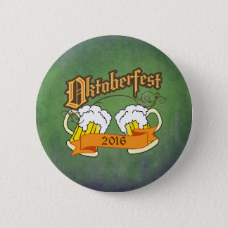 Oktoberfest German Festival Beer Steins Typography 6 Cm Round Badge