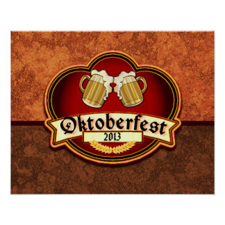 Oktoberfest German Festival Custom Dated Poster