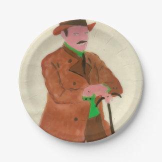 Oktoberfest German Gent Paper Plate