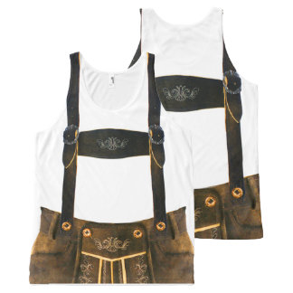 Oktoberfest German Lederhosen All-Over Print Singlet