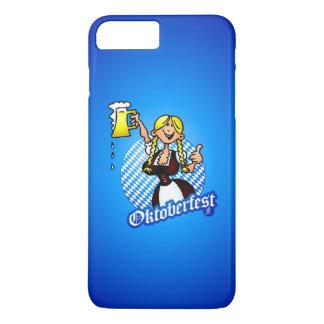 Oktoberfest - girl in a dirndl iPhone 7 plus case