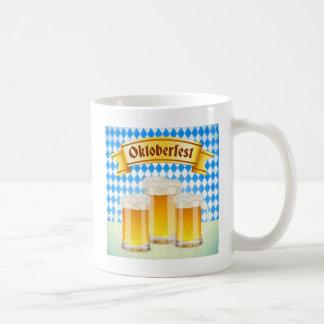 Oktoberfest Greeting Card With Beer Basic White Mug