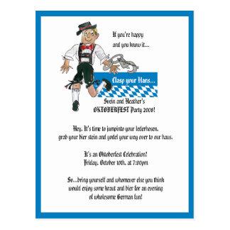 Oktoberfest Invitation Personalised Postcards