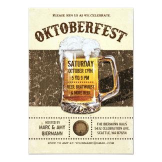 Oktoberfest Invitations - Vintage Rustic v.2