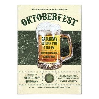 Oktoberfest Invitations - Vintage Rustic v.3