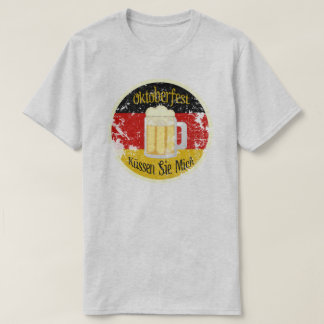 Oktoberfest Kiss Me Distressed T-Shirt