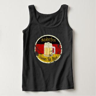 Oktoberfest Kiss Me Grungy Basic Tank Top