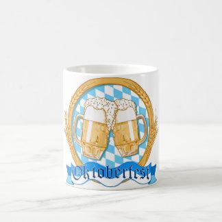 Oktoberfest Label Design With Beer Glasses Basic White Mug