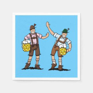 Oktoberfest Lederhosen Men Beer Stein Paper Napkin