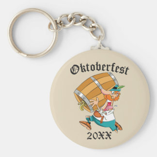 Oktoberfest Man With Keg Key Ring