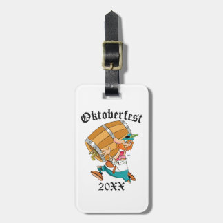 Oktoberfest Man With Keg Luggage Tag