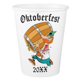 Oktoberfest Man With Keg Paper Cup
