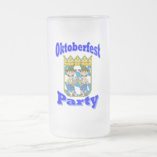 oktoberfest frosted glass mug
