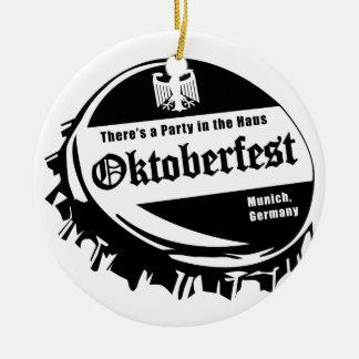 Oktoberfest Party in the Haus Ceramic Ornament