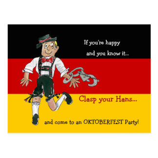 Oktoberfest Party Invitation Postcards