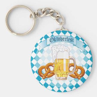 Oktoberfest Pretzels & Beer Key Chain