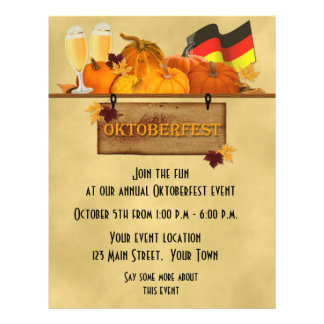 Oktoberfest, Pumpkins, Beer, Flyer