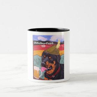 Oktoberfest Rottie mug