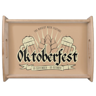Oktoberfest serving trays