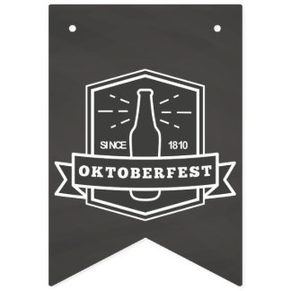 Oktoberfest Since 1810 on Chalkboard Bunting