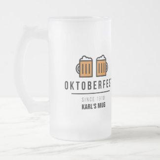 Oktoberfest Since 1910 Frosted Glass Beer Mug