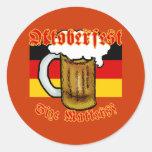Oktoberfest Size Matters Fun Tshirt Round Sticker