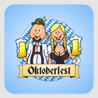 Oktoberfest Square Sticker