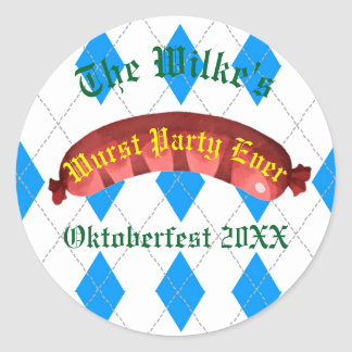 Oktoberfest Stickers - Wurst Party Ever