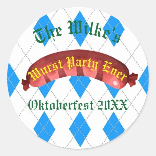 Oktoberfest Stickers - Wurst Party Ever
