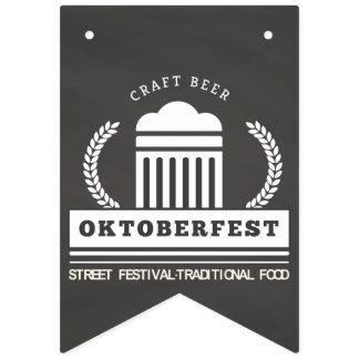 Oktoberfest Street Festival on Chalkboard Bunting