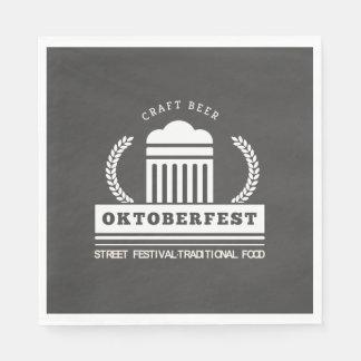 Oktoberfest Street Festival on Chalkboard Paper Serviettes