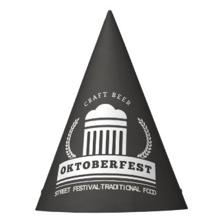 Oktoberfest Street Festival on Chalkboard Party Hat