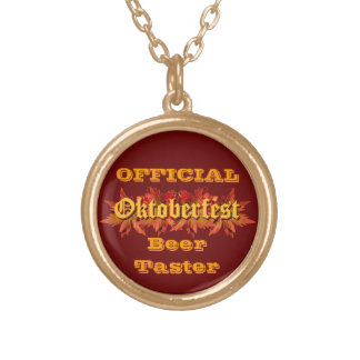 Oktoberfest Text Design With Autumn Leaves Jewelry