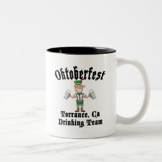 Oktoberfest Torrance, California Drinking Team Two-Tone Coffee Mug