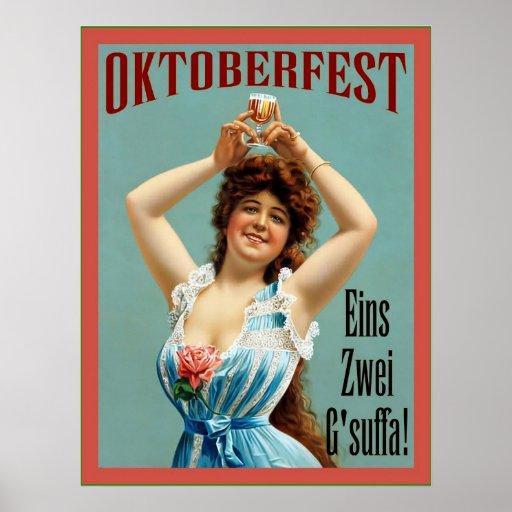 Oktoberfest  ~ Vintage Bavarian Advertising Poster