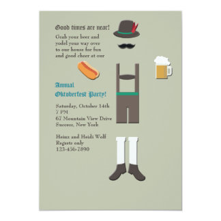 Oktoberfest Wear Party Invitation