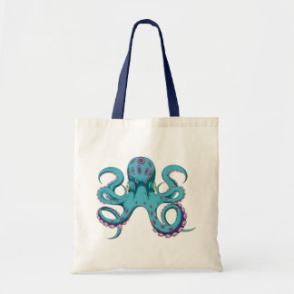 Oktopus Krake octopus kraken Canvas Bags