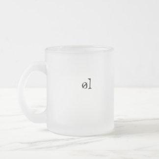 øl frosted glass coffee mug