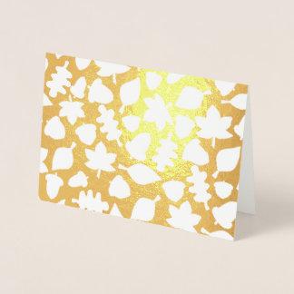 Ol Lifestyle Autumn foil occasion card (Gold Foil)