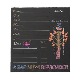 Ol Lifestyle Autumn NoteBlock Planner Notepad