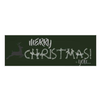 OL Xmas Christmas Banner (Large) Poster