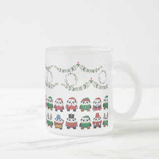 OL Xmas Thick Frosted Mug - Pandas//Garllens