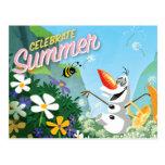 Olaf, Celebrate Summer Post Card