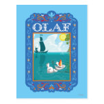 Olaf Floating in the Water Postcard
