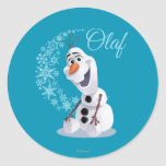 Olaf Snowflakes Round Stickers