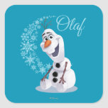 Olaf Snowflakes Square Stickers
