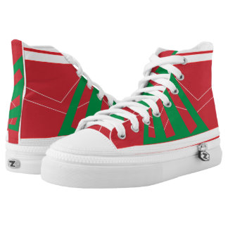 Olasz Red and Green Triad High Top