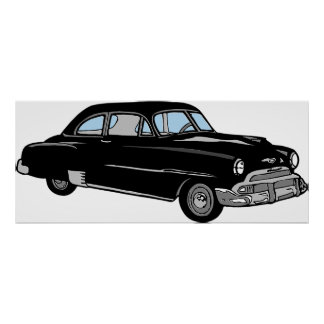 Old 1950 Vintage Chevy Car - Classic! Poster