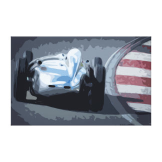 Old 50's Racing Car Canvas in Simple Design