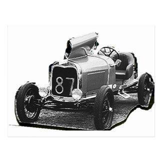 OLD 87   RACING CAR POSTCARD